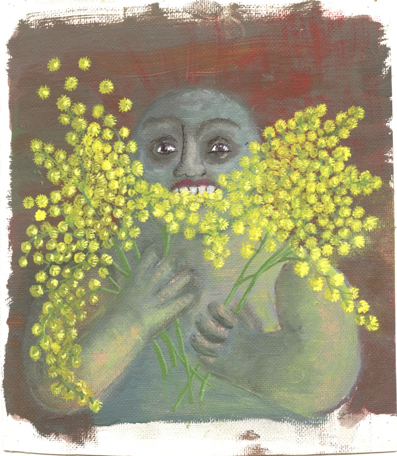 oil-painting-mimosa-eater